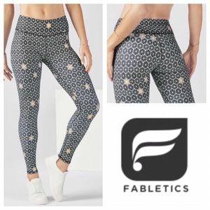 Fabletics Black and Gold Star Salar Leggings